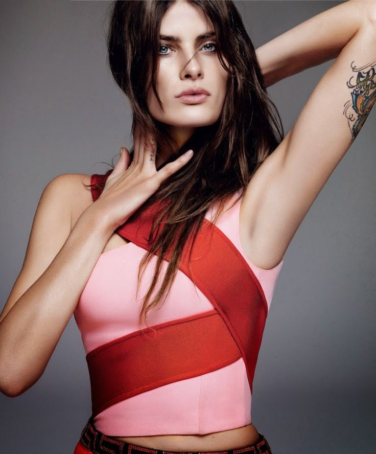 """Duchess Dior: """"Red and Black"""" Isabeli Fontana by Alique for Harper's Bazaar Spain April 2015"""
