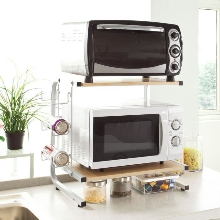 microwave shelf kitchen storage rack