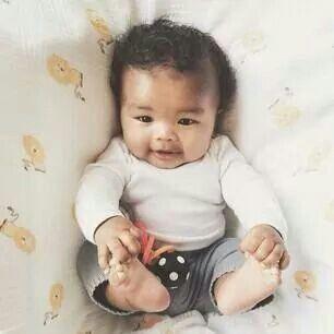 Too cute, Blasian baby