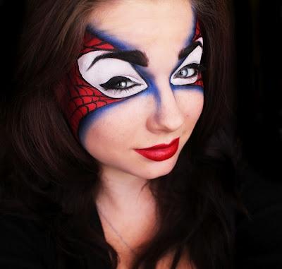 Spiderman makeup mask #superheroes #Marvel