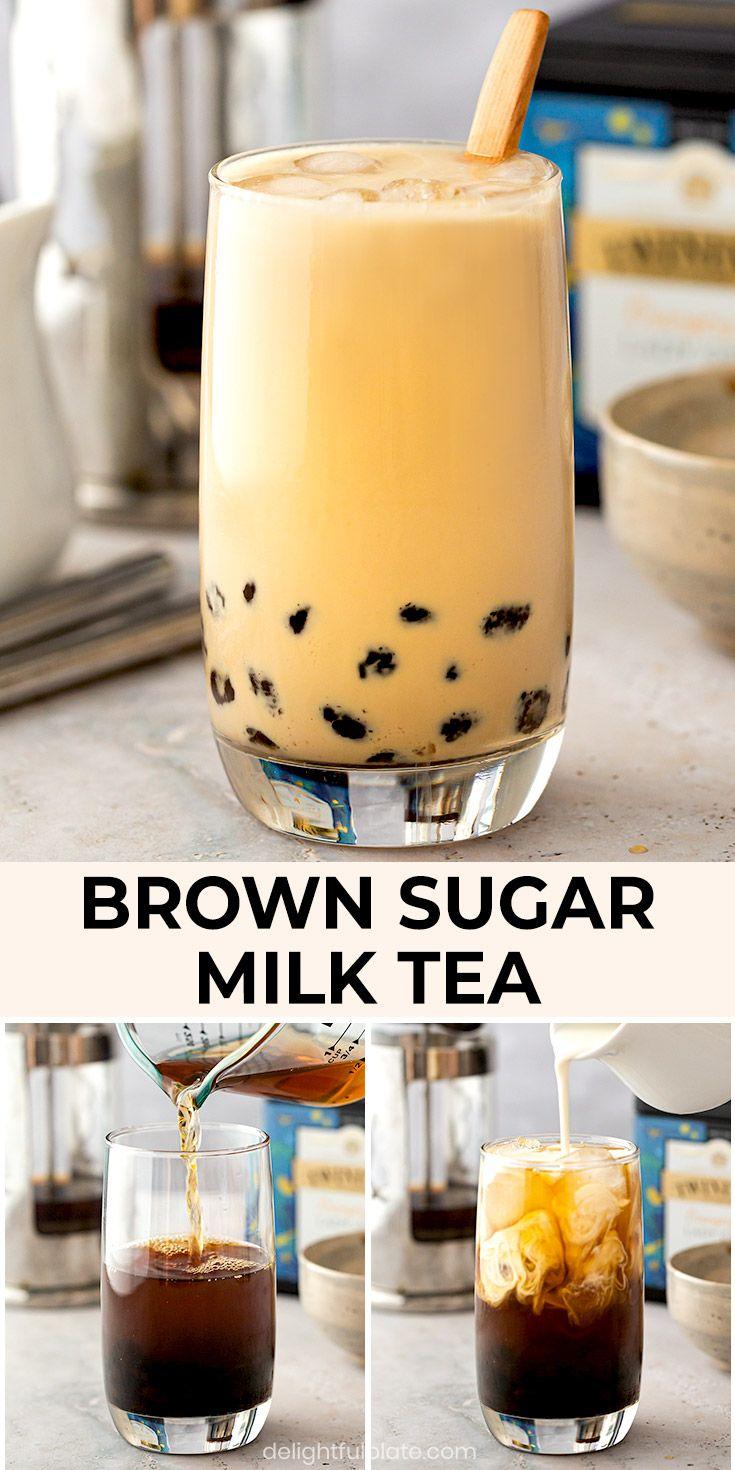 Taiwanese Bubble Tea Recipe, Easy Bubble Tea Recipe, Bubble Tea Flavors, Boba Recipe, Milk Tea Recipes, Caramel Milk Tea Recipe, Boba Smoothie, Smoothies, Sweets