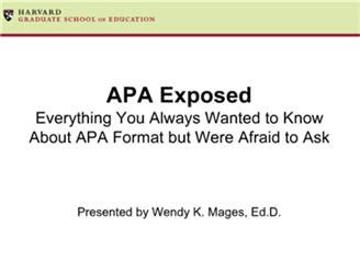 Fantastic online tutorial  about APA