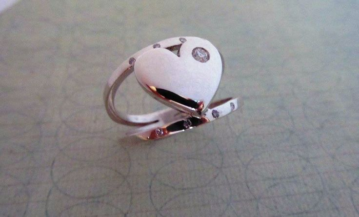 Spoil someone special in your life with this sterling silver and cubic zirconia heart ring. Can be made with any gemstones, by request. http://bit.ly/28OgqFC