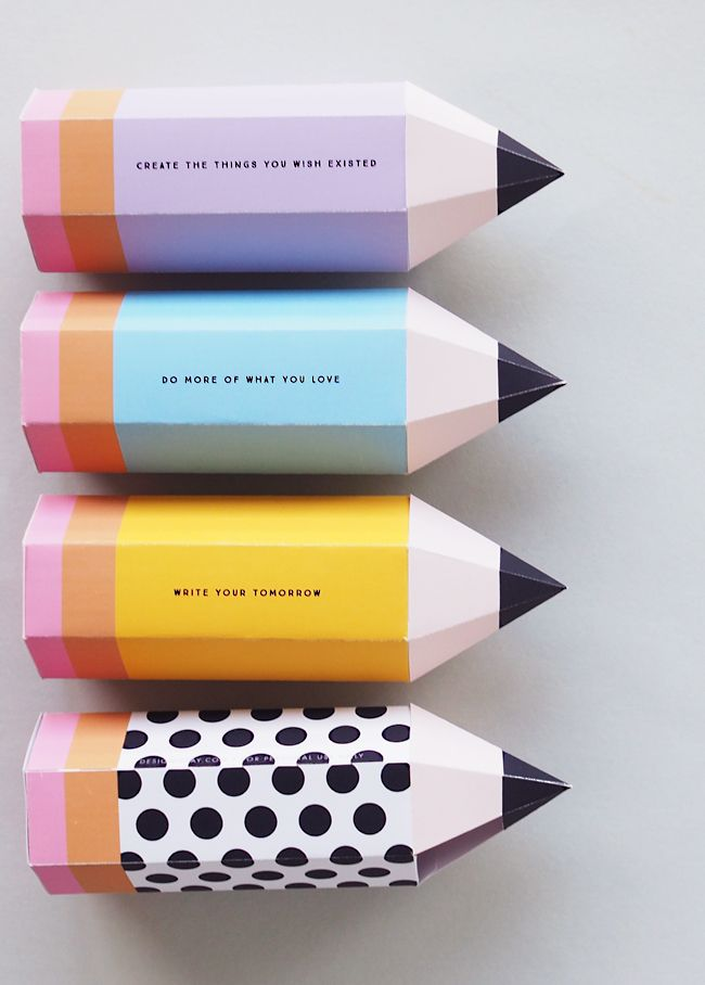 Printable Quote Pencil Boxes   DESIGN IS YAY!