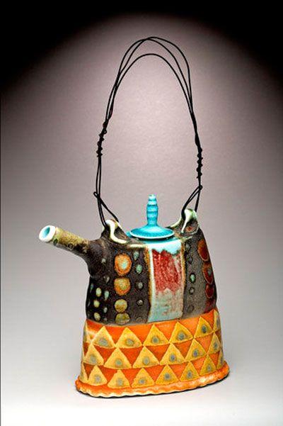 Soda fired porcelain and stoneware embellished for daily enjoyment. Mark Knott