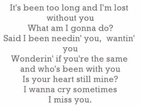 Aaliyah - I Miss You Lyrics. - YouTube