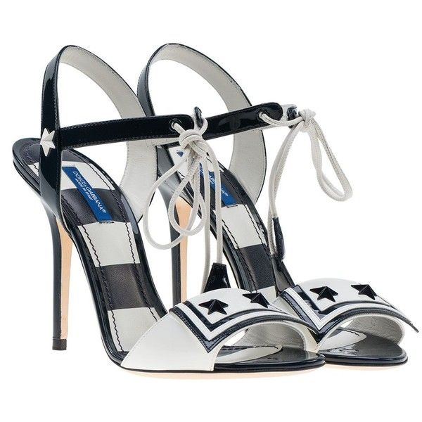 Sailor Sandals ($517) ❤ liked on Polyvore featuring shoes, sandals, womenshoes, open toe stilettos, stiletto heel sandals, high heel stilettos, dolce gabbana shoes and heels stilettos