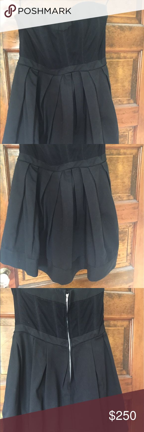 Jill Stuart Strapless Cocktail Dress - WORN ONCE!! Adorable cocktail dress. Sweetheart neckline with short mini skirt. Strapless mesh top with boning. Tight in the waist and poofs out. So cute and classic. Worn once to a wedding. Great condition. Jill Stuart Dresses Strapless