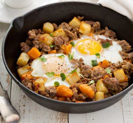Sweet Potato Sausage Hash
