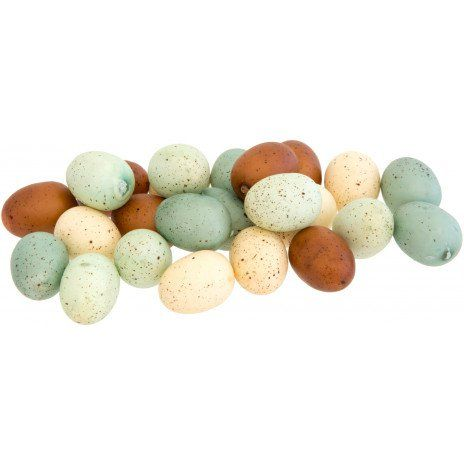 "1"" Plastic Speckled Bird Eggs: Blue/Brown Mix (24) [N1308] - CraftOutlet.com"