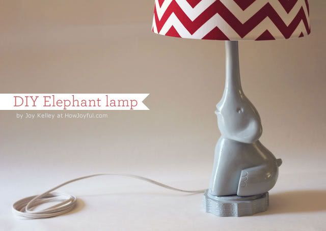 This is an amazing DIY. I know I will never make this,  but I think it is super neat.  DIY Elephant lamp | How Joyful