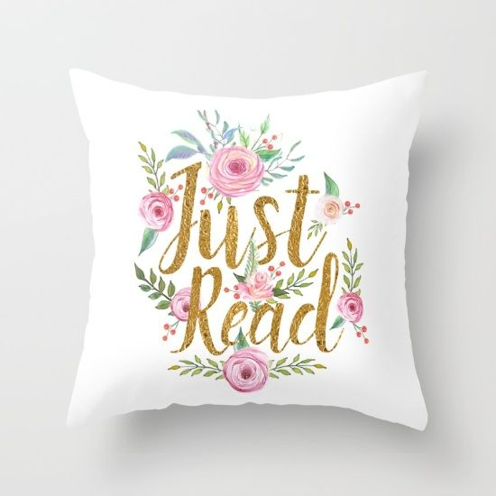 buy just read white throw pillow by evie seo worldwide shipping available at society6