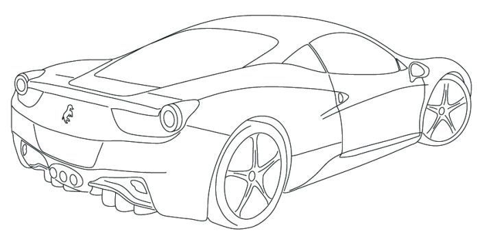 ferrari 8 coloring page  cars coloring pages coloring