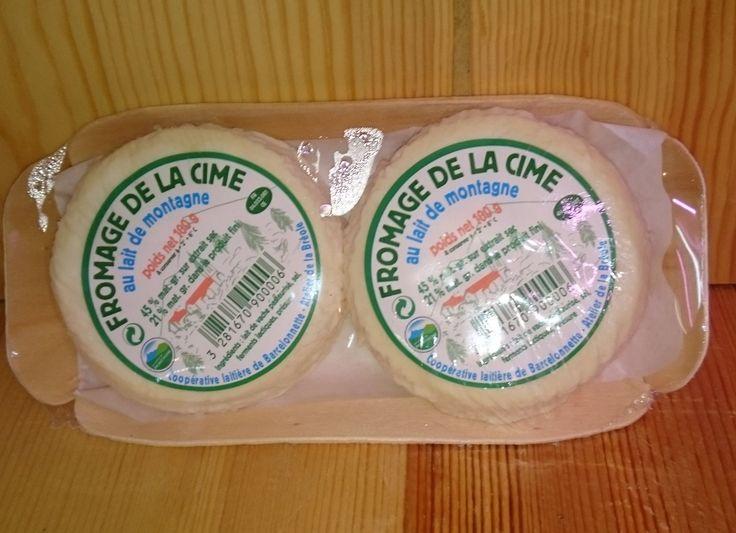 Fromages des cimes x 2 au lait entier de vaches 100gr.   Au lait pasteurisé.