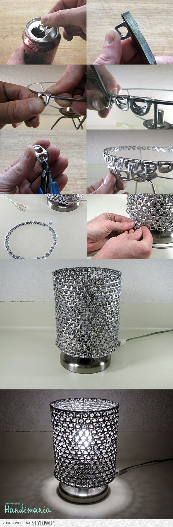 Recycling / DIY soda can tabs lamp na Stylowi.pl