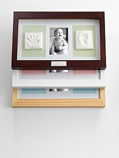 First Fathers Day Gift Ideas: Striking frame is a great way to preserve those adorable little footprints and handprints!