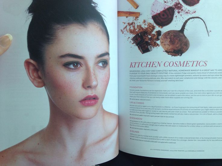 Home made makeup in Peppermint Magazine- hair and MU by me