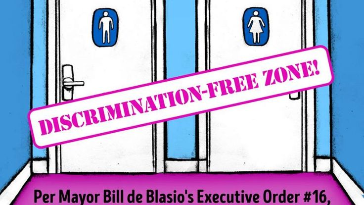 New York City Mayor Bill de Blasio signed an executive order Monday taking all gender restrictions off of city-owned bathrooms -- meaning anyone, male or female, can enter any bathroom, for male or female, at city playgrounds, pools, or offices without worry or hesitation and will never have to show an ID to prove your identity.