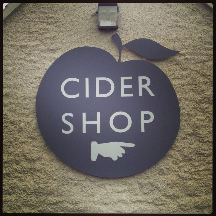 Cider shop sign