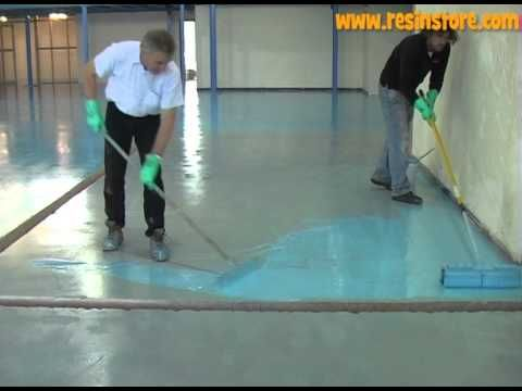 Good How To Apply Epoxy Resin Flooring   Reactive Resins, UK