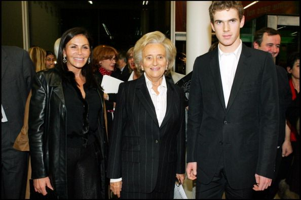 Mouna Ayoub, Bernadette Chirac and Alexandre Desseigne at Inauguration Of 'Maison De Solenn', A House For Teenagers, Sponsored By Bernadette Chirac At Cochin Hospital In Paris. (Photo by Bertrand Rindoff Petroff/Getty Images)