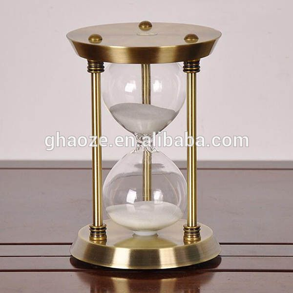 15 Minutes Metal Hourglass Sand Timer Factory