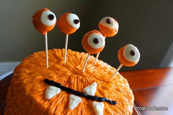 Monster cake - fun for a birthday or Halloween!