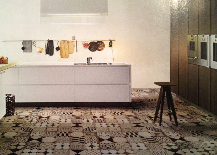 Zwart Witte Keukentegels : Strakke keuken romantische vloer Vloer ...