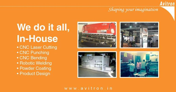 Avitron's aim has always been to innovate and add value to its products and solutions. We have made considerable investments in systems, training and technology in order to supply a variety of fabricated sheet metal components at competitive rates in our quest to be the BEST! We are experts in all Sheet Metal fabrication processes - Product Design, CNC Laser Cutting, CNC Punching, CNC Bending, Robotic Welding and Powder Coating. For more details contact us Email : info@avitron.in Visit…