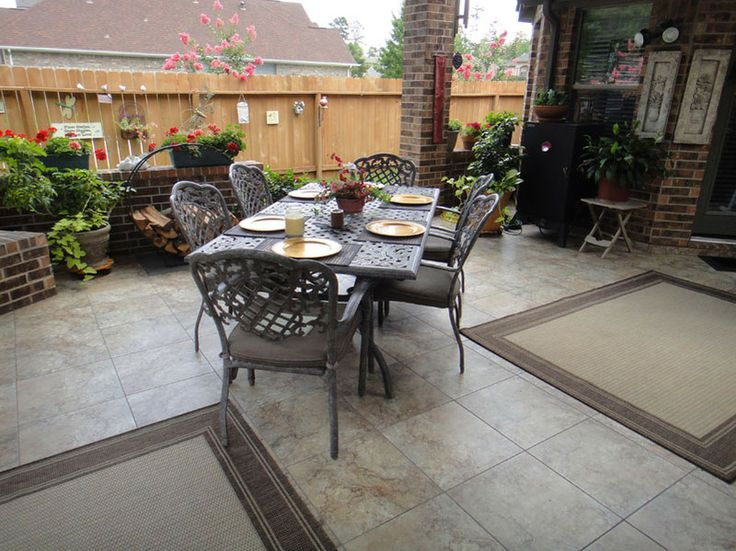 Pictures Of Patio Floors | Photo Gallery Of The Outdoor Patio Flooring
