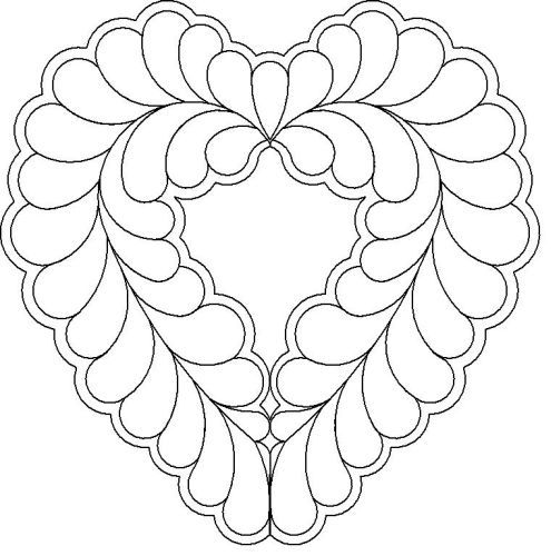 feathered heart quilting designs | Belinda Feather heart motif