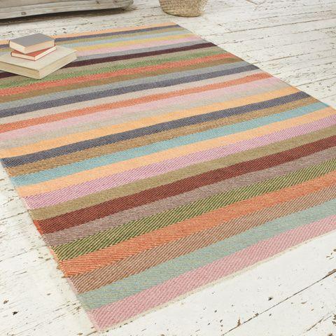 Striped+Herringbone+Rug+|+Tuppence+|+Loaf