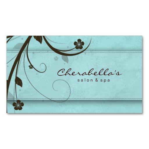 378 best business card templates branding images on pinterest salon spa watery blue floral elegant business card template reheart Choice Image