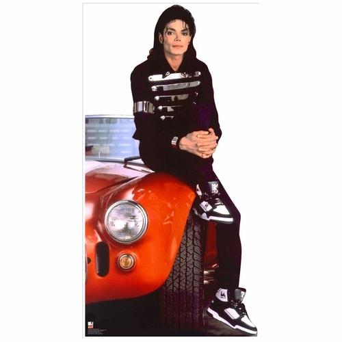 Michael Jackson Red Car Lifesized Standup