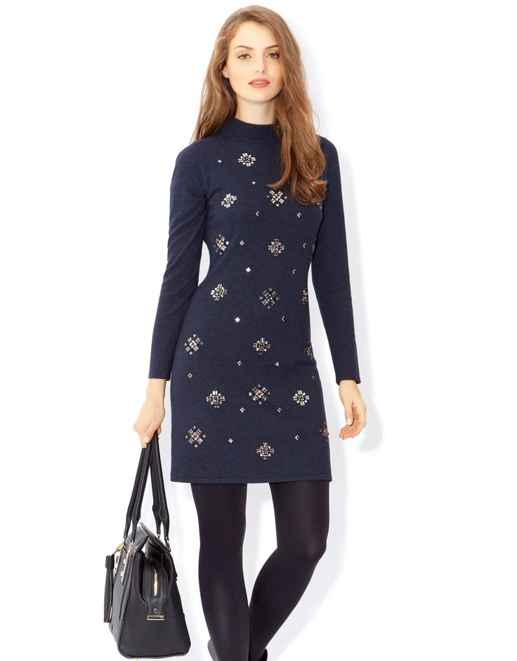 Embellished dress for the colder weather from Monsoon