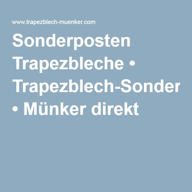 Trapezblech Sonderposten Trapezbleche • Trapezblech-Sonderposten • Münker direkt