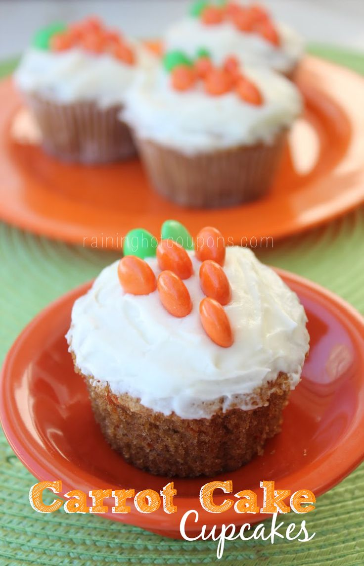 Carrot Cake Cupcakes - flour - sugar - cinnamon - 4 eggs - vegetable ...