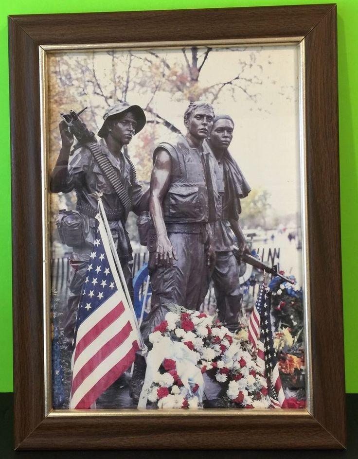 Vietnam Memorial Statue Memorial Day Framed Photograph US Flag   Art, Art from Dealers & Resellers, Photographs   eBay!