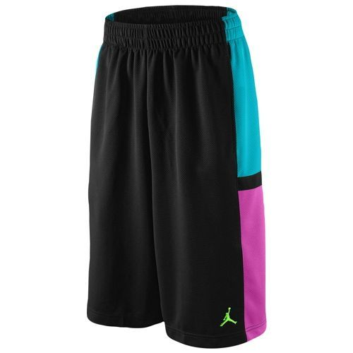 Jordan Bankroll Short - Men's - Basketball - Clothing - Black/Gamma Blue/Club Pink