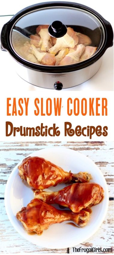 Easy Crock Pot Drumstick Recipes! ~ from TheFrugalGirls.com