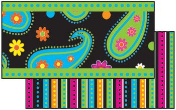 Perfect Paisleys Double-Sided Bulletin Board Border, Straight | SS-100478 | FST3136