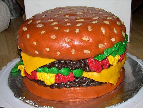Hamburger Cake 3