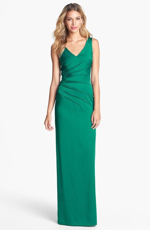 Gorgeous emerald gown