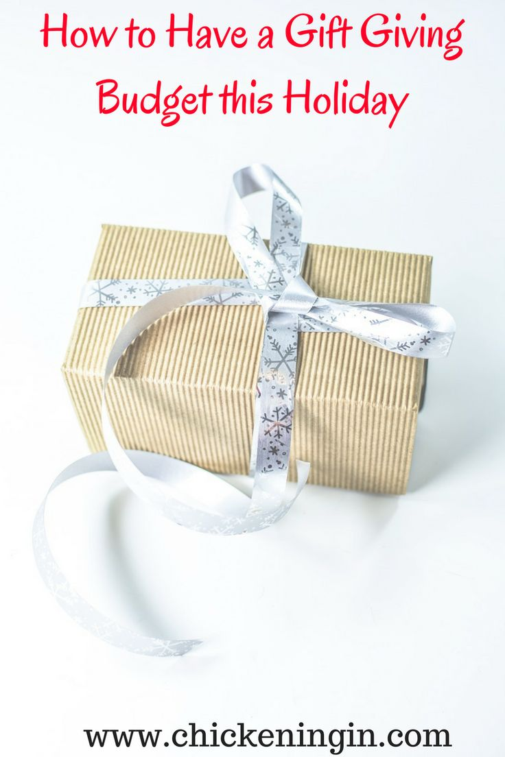 How to have a #gift giving budget for the #holidays