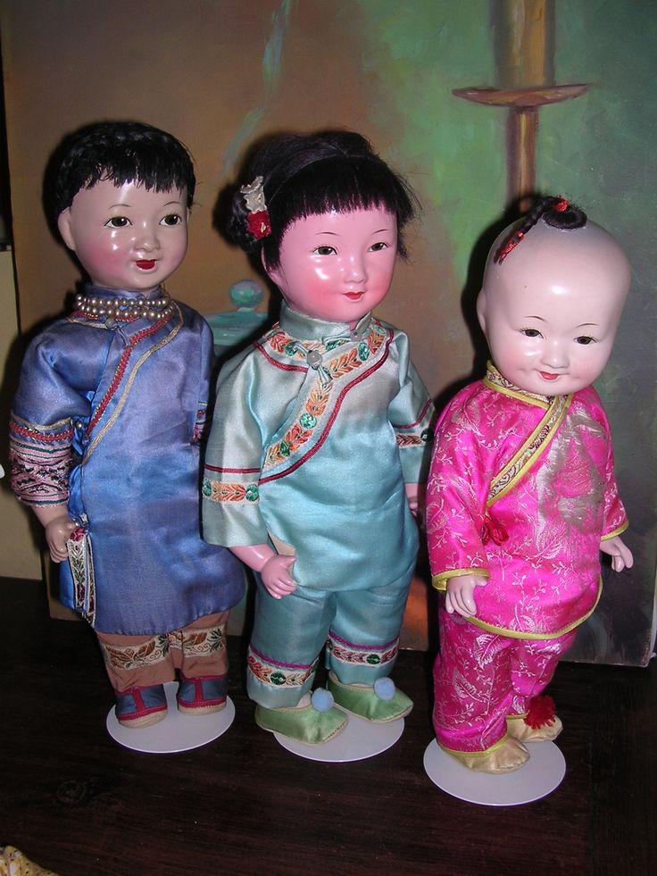 Vintage Chinese dolls circa 19501960s  Chinese Dolls