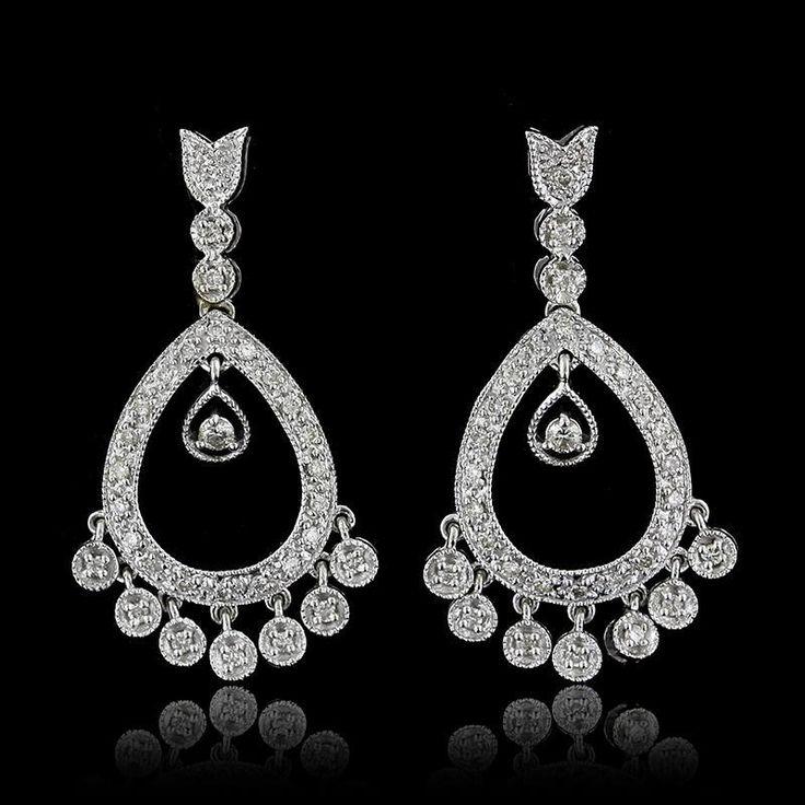 The 25 best diamond chandelier earrings ideas on pinterest yoko 14k white gold diamond chandelier earrings aloadofball Gallery