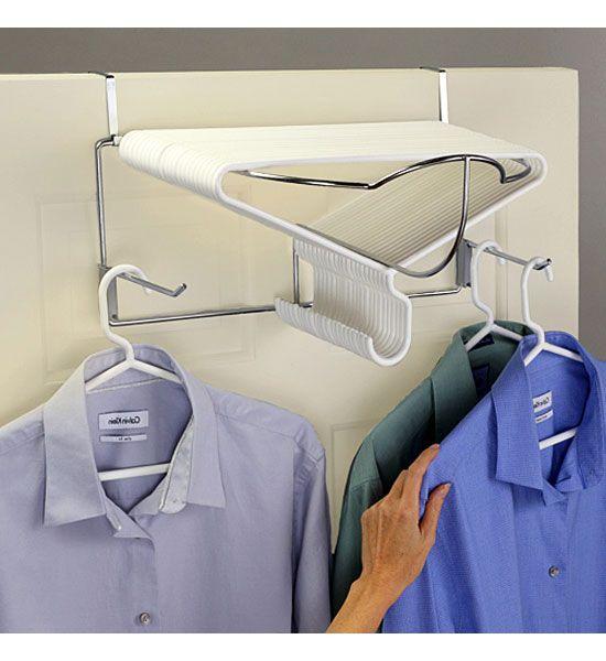 the deluxe over the door hanger rack is a great way to organize hangers in the