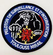 INSIGNE TISSUS PATCH GENDARMERIE NATIONALE LE PSIG DE TOULOUSE MIRAIL 31 SUR VELCROS