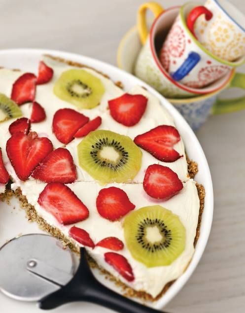 Low Carb Fresh Fruit Pizza.... Recipe by George Stella'....Low Carbing Among Friends on Facebook