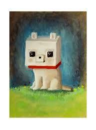 Minecraft wolf fan art
